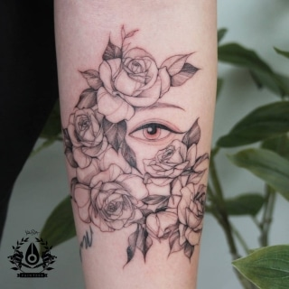 Fine Line Flowers and Eyes