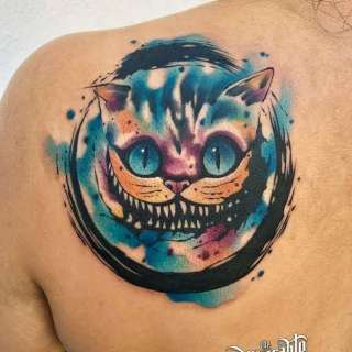 Watercolor Cheshire Cat